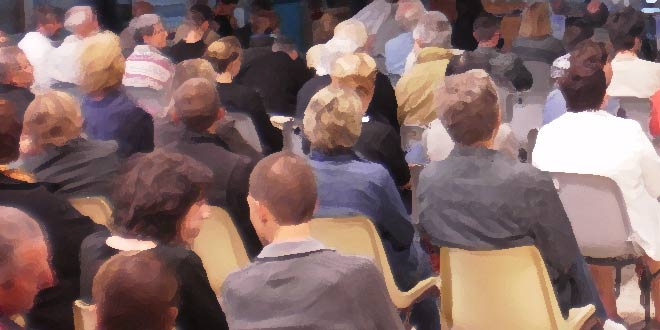 Réunion publique le 7 novembre 2014 au château d'Aramont
