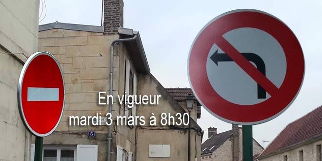 Nouveau sens de circulation de la rue Gustave Bouffet dès le mardi 3 mars à 8h30