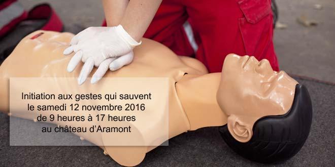 Sauvez des vies ! Venez suivre la formation aux premiers secours le 12 novembre.
